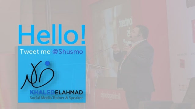 Hello!Tweet me @Shusmo