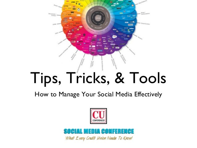 Tips, Tricks, & Tools How to Manage Your Social Media Effectively