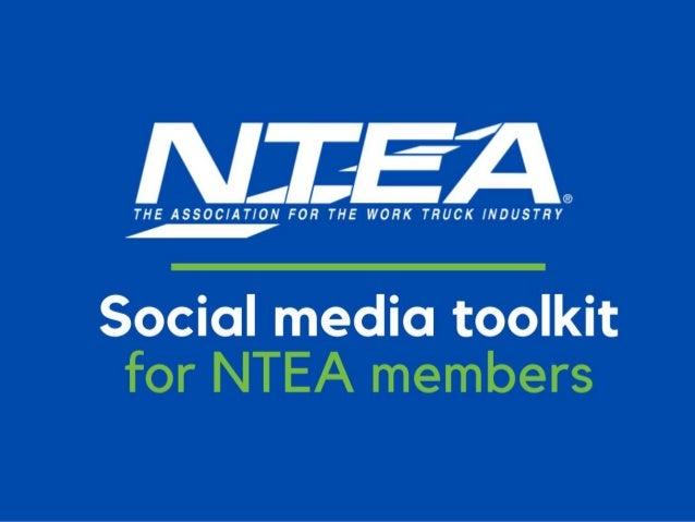 1 Social media toolkit for NTEA members