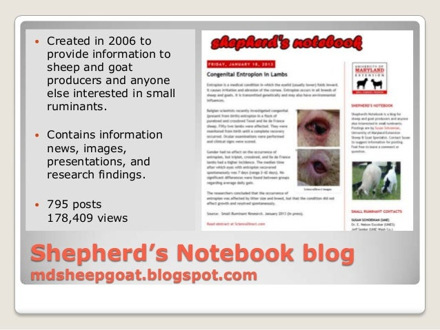    Created in 2006 to    provide information to    sheep and goat    producers and anyone    else interested in small    ...