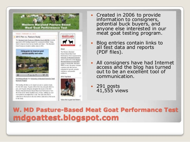    Created in 2006 to provide                         information to consigners,                         potential buck b...