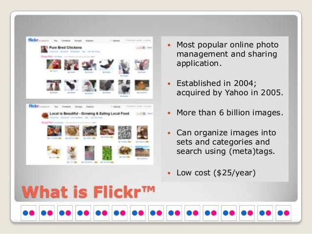    Most popular online photo                      management and sharing                      application.               ...