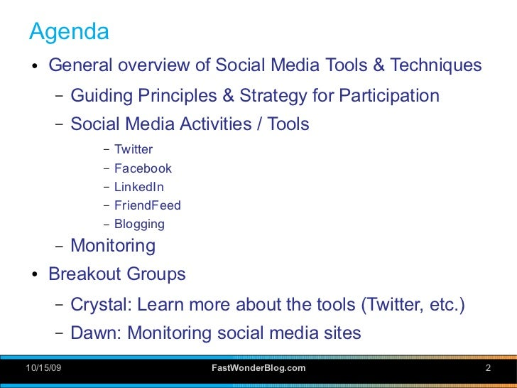 Demystifying Social Media: Tools and Techniques Slide 2