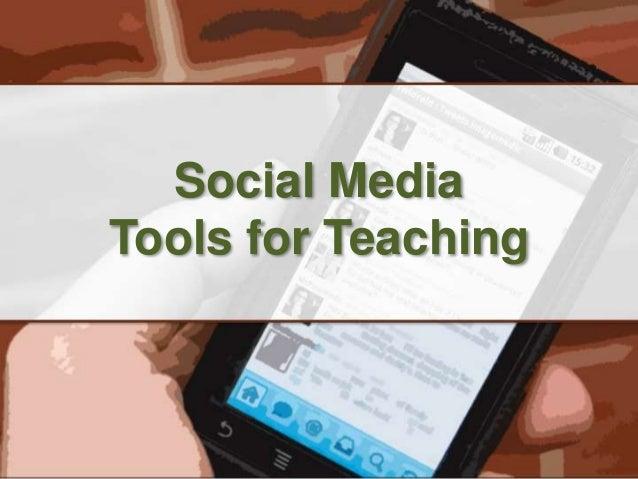 Social Media Tools for Teaching