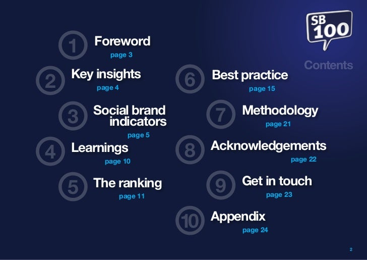 Foreword    1      page 3                                                      Contents    Key insights                 Be...