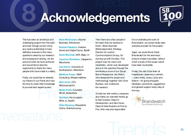 Media    8 Acknowledgements                            Relationships    This has been an ambitious and    challenging proj...