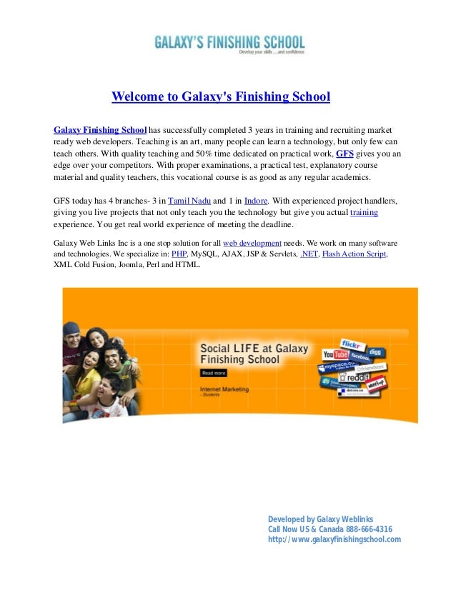 Welcome to Galaxys Finishing SchoolGalaxy Finishing School has successfully completed 3 years in training and recruiting m...