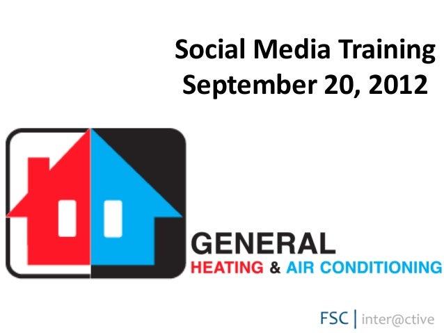 Social Media Training September 20, 2012