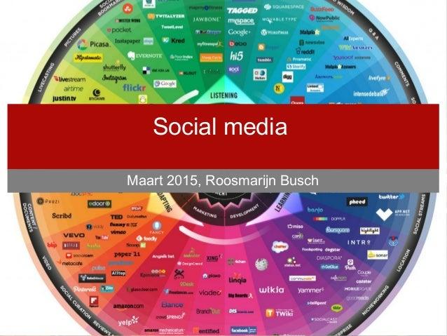 Door Roosmarijn Busch, februari 2013 Social media Maart 2015, Roosmarijn Busch