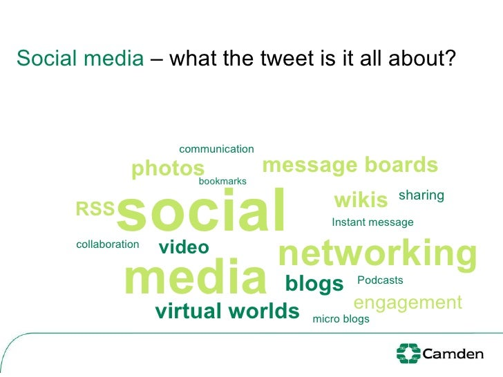 Social media  – what the tweet is it all about?  social media networking RSS blogs video Podcasts bookmarks Instant   mess...