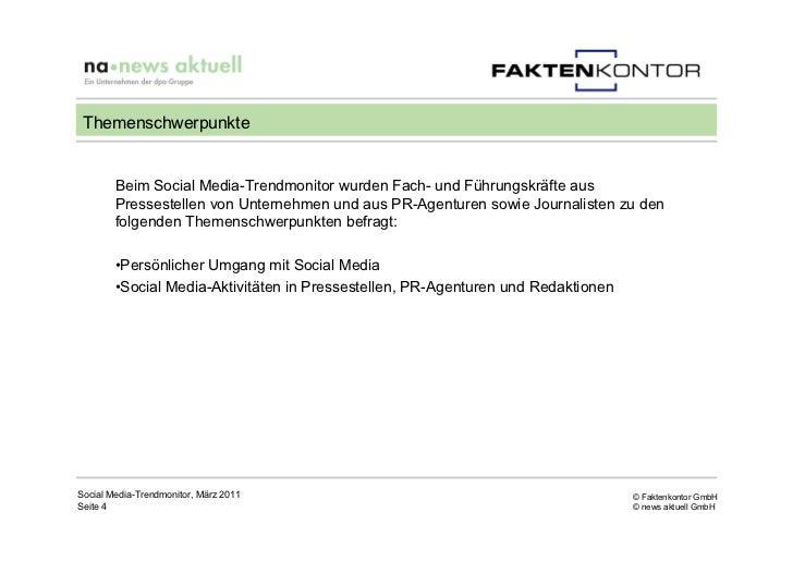 Themenschwerpunkte        Beim Social Media-Trendmonitor wurden Fach- und Führungskräfte aus        Pressestellen von Unte...