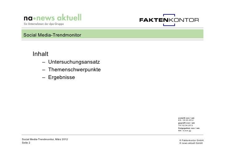 Social Media Trendmonitor 2012 Slide 2