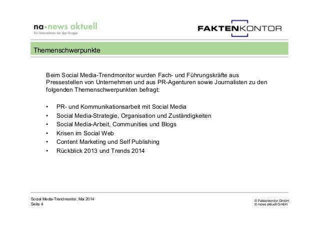 © Faktenkontor GmbH © news aktuell GmbH Beim Social Media-Trendmonitor wurden Fach- und Führungskräfte aus Pressestellen v...