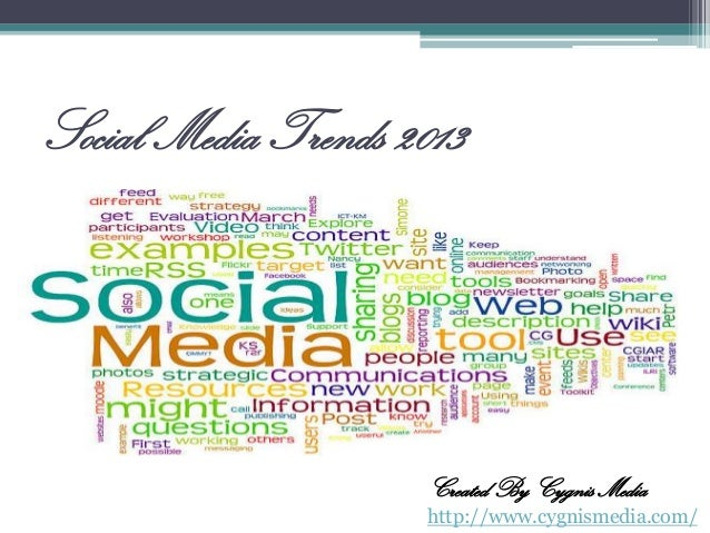 Social Media Trends 2013  Created By Cygnis Media http://www.cygnismedia.com/