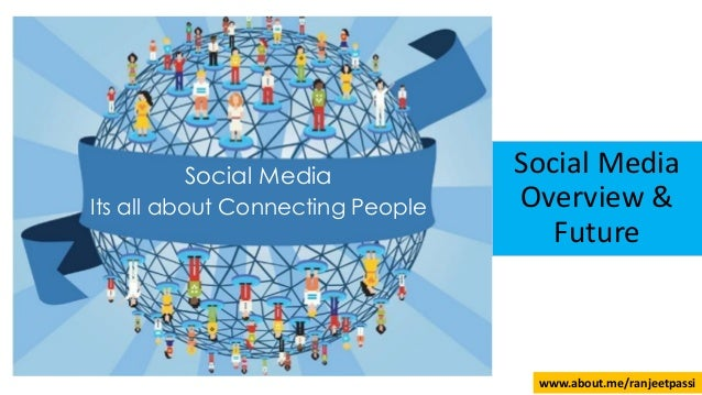 Social Media Its all about Connecting People Social Media Overview & Future www.about.me/ranjeetpassi