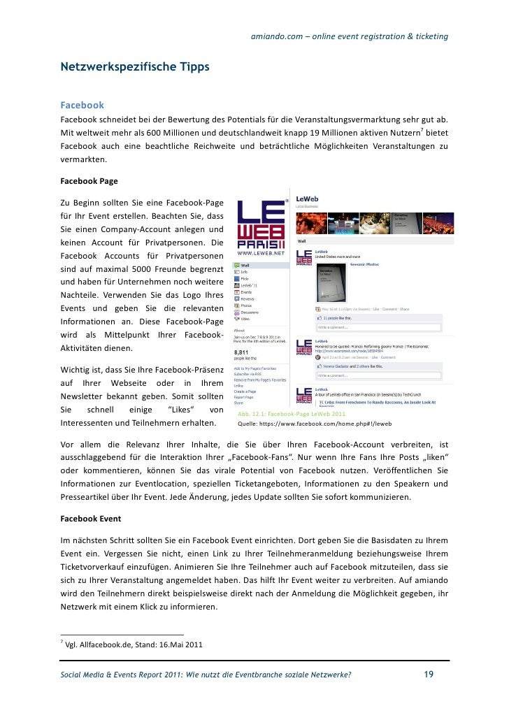 Social Media und Events Report 2011 (Deutsch)