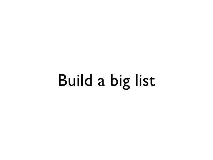 Build a big list
