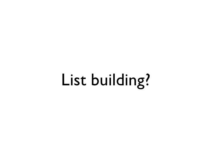 List building?