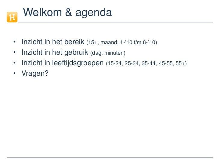 Social Media in Nederland in cijfers (2010 - update 5) Slide 2