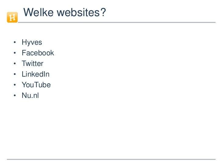 Social Media in Nederland in cijfers (2010 - update 5) Slide 3