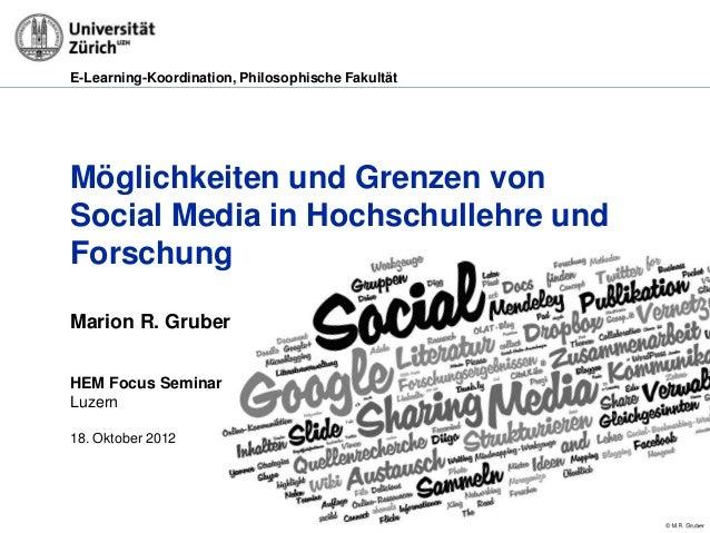 E-Learning-Koordination, Philosophische FakultätMöglichkeiten und Grenzen vonSocial Media in Hochschullehre undForschungMa...