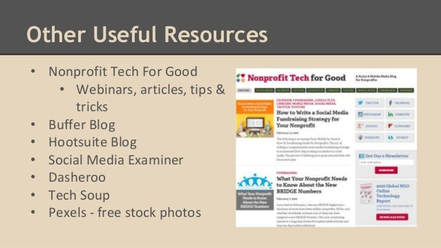 Social Media for Non Profit Organizations - What You Need to
