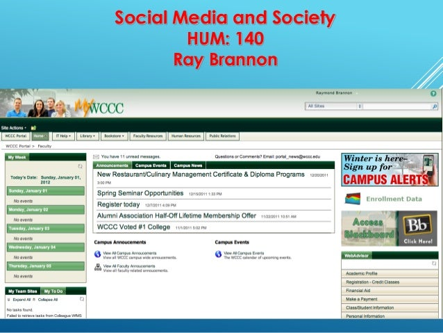 Social Media and SocietyHUM: 140Ray Brannon