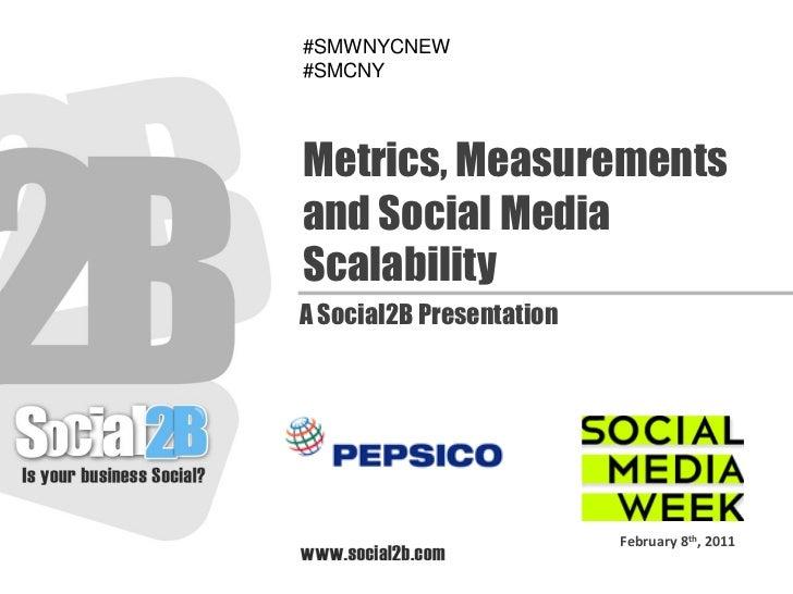 #SMWNYCNEW#SMCNYMetrics, Measurementsand Social MediaScalabilityA Social2B Presentation                          February ...
