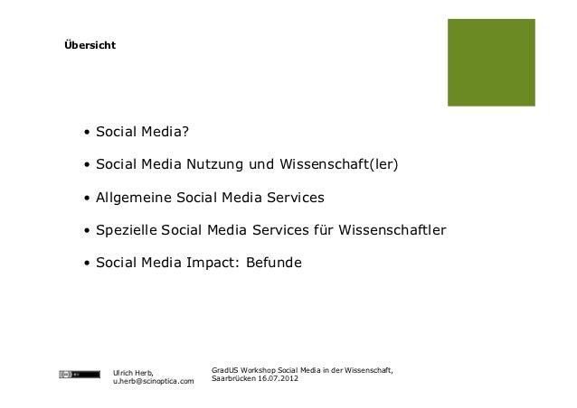 Social Media in der Wissenschaft Slide 2
