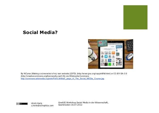 Social Media in der Wissenschaft Slide 3
