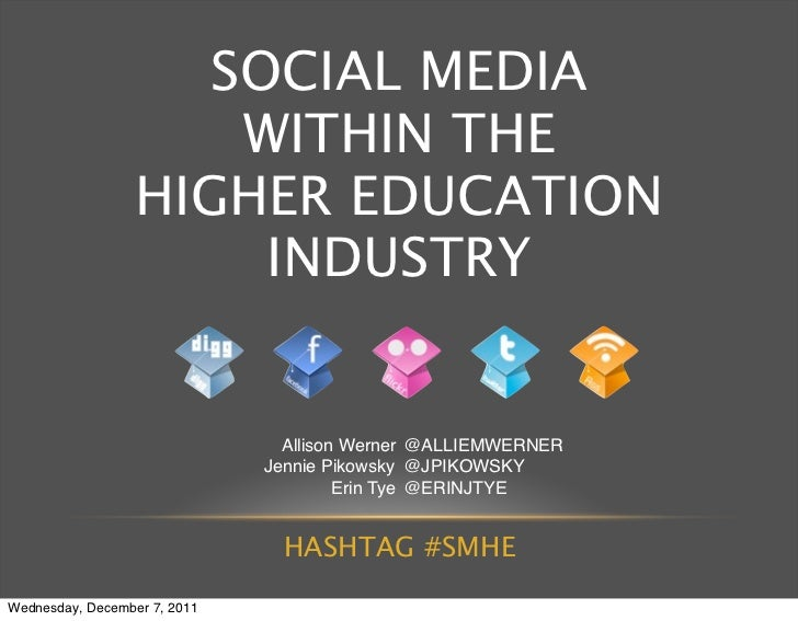 SOCIAL MEDIA                      WITHIN THE                  HIGHER EDUCATION                       INDUSTRY             ...