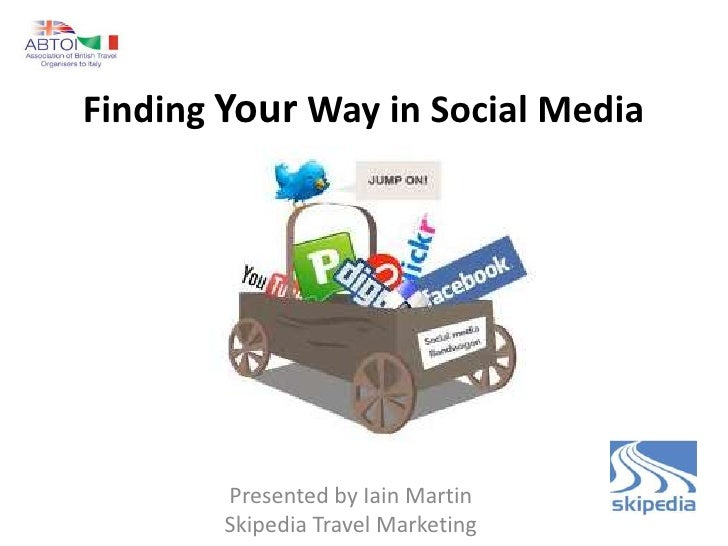 Finding Your Way in Social Media        Presented by Iain Martin        Skipedia Travel Marketing