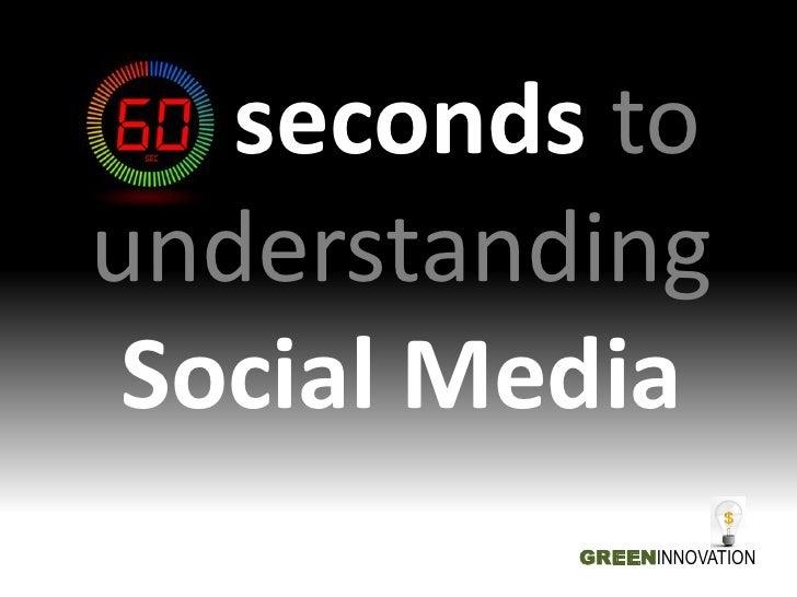 60 seconds tounderstanding Social Media          GREENINNOVATION