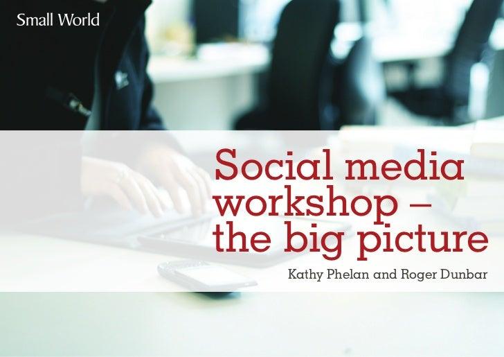 Social mediaworkshop –the big picture    Kathy Phelan and Roger Dunbar