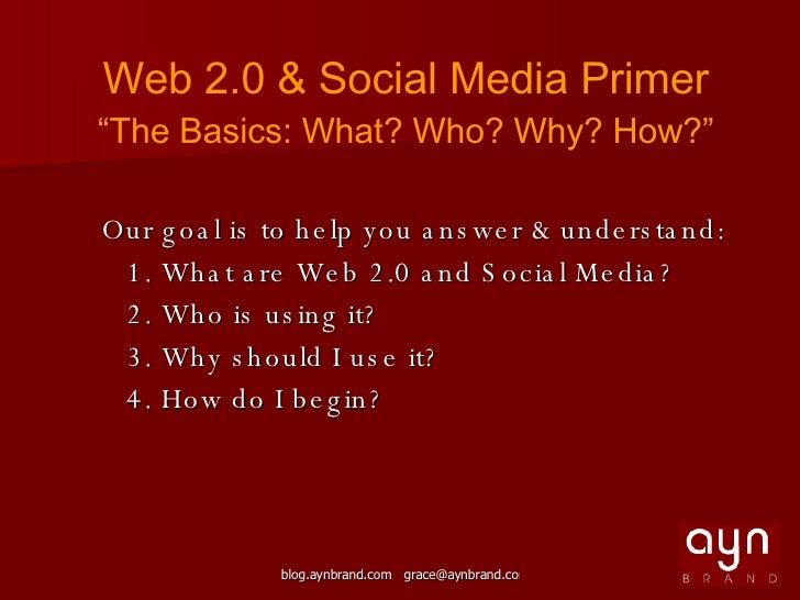 Web 2.0 & Social Media Workshop - Spacetaker Slide 2