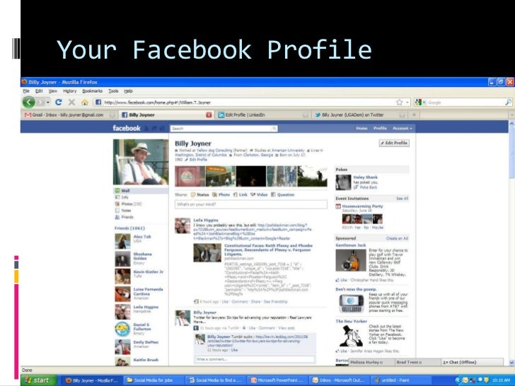 Your Facebook Profile <br />
