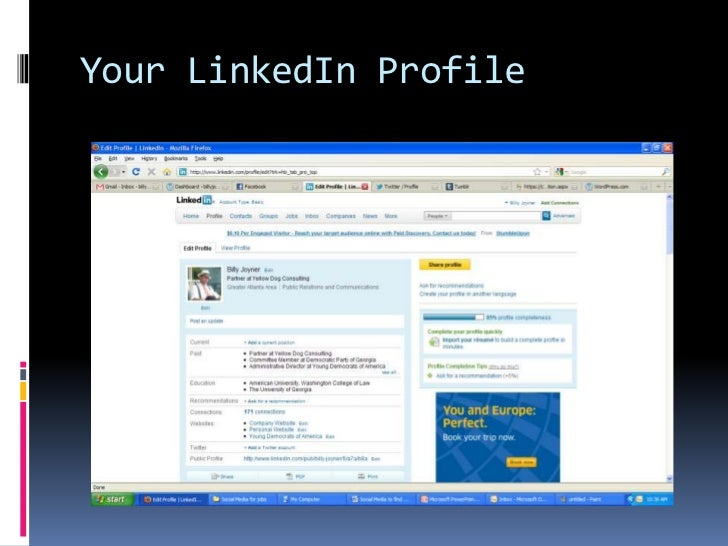 Your LinkedIn Profile<br />
