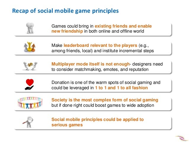 Social mobile game design principles