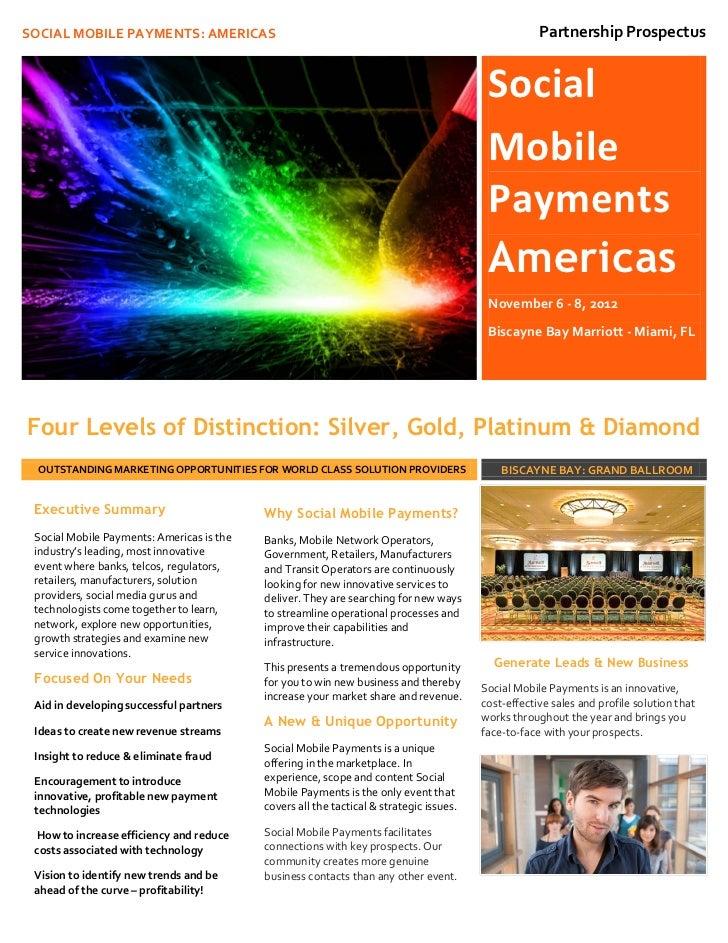 SOCIAL MOBILE PAYMENTS: AMERICAS                                                                     Partnership Prospectu...