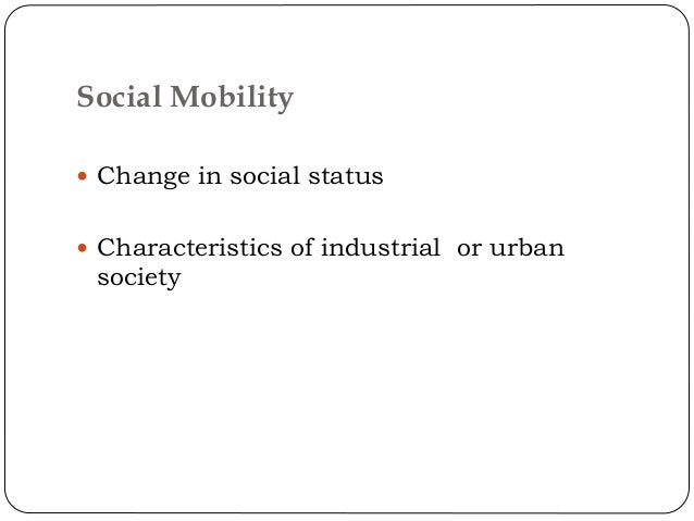 1120 words short essay on social mobility