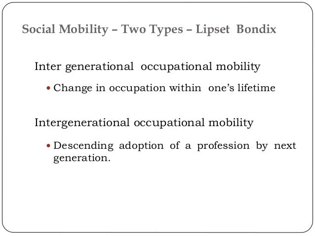 What are the differences between the three types of social mobility?