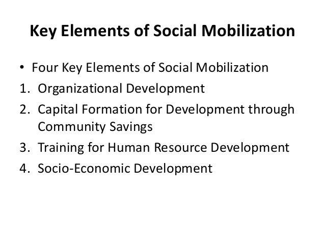 Key Elements of Social Mobilization• Four Key Elements of Social Mobilization1. Organizational Development2. Capital Forma...