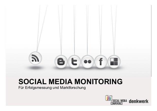 SOCIAL MEDIA MONITORING Für Erfolgsmessung und Marktforschung