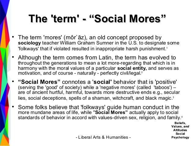 define mores in sociology