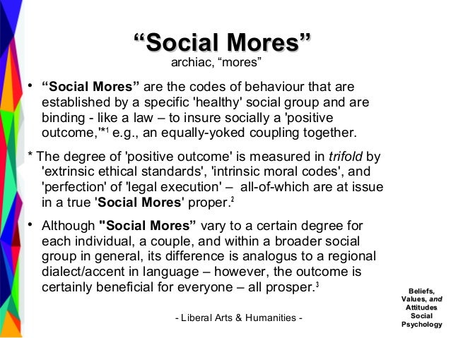 Social Mores - The Term is Defined - Sociology 101