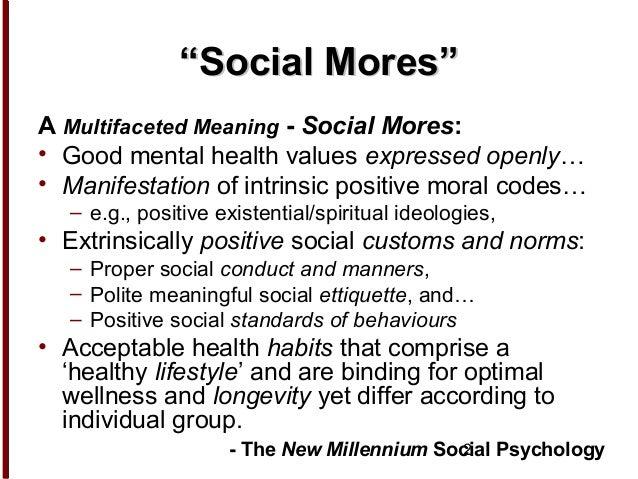 Social Mores