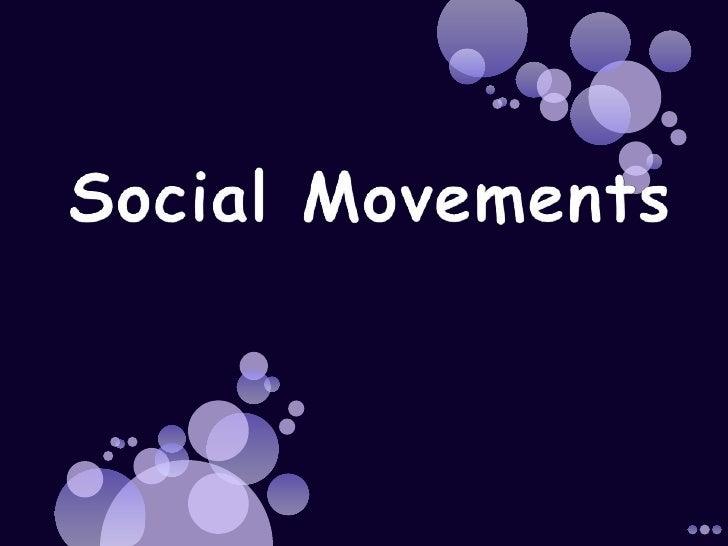 Sociology and social movements