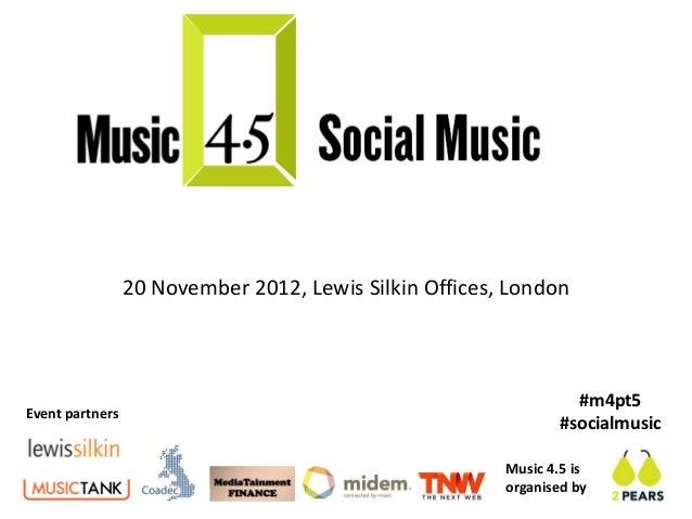 20 November 2012, Lewis Silkin Offices, London                                                                  #m4pt5Even...