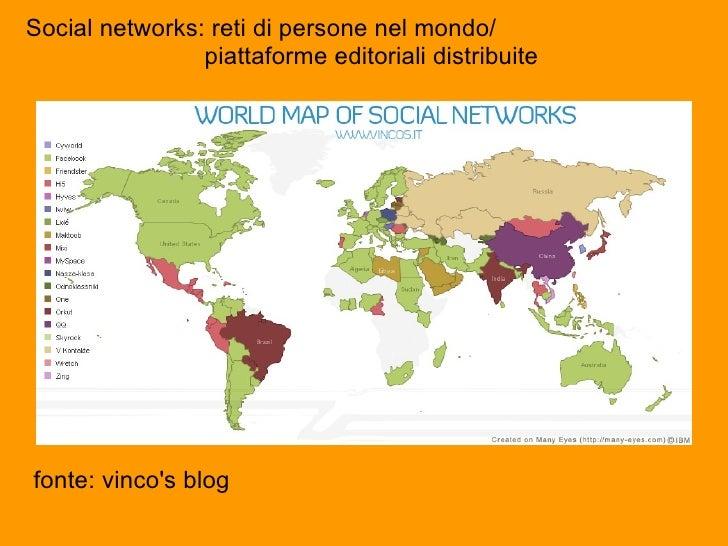 fonte:  vincos blog Social networks: reti di persone nel mondo/   piattaforme editoriali distribu...