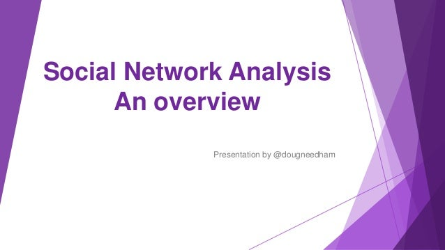 Social Network Analysis An overview Presentation by @dougneedham